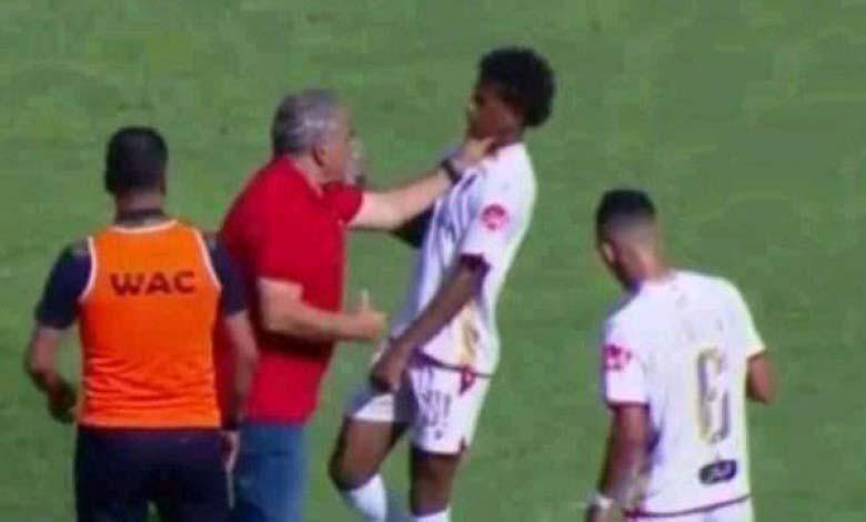 Fawzi Benzarti agresse Hamza Aït Allal, les supporters solidaires avec le joueur