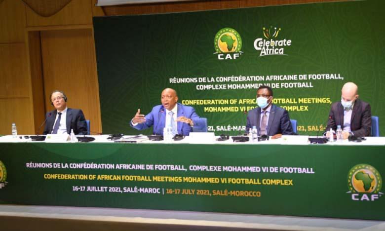 Réunion du Comité exécutif de la CAF au Centre Mohammed VI de football à Rabat.