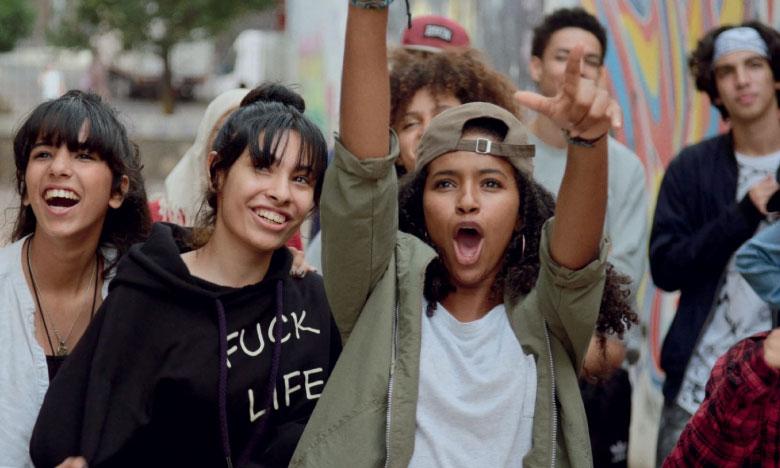 Une scène du film «Haut et fort» avec les jeunes du Centre.