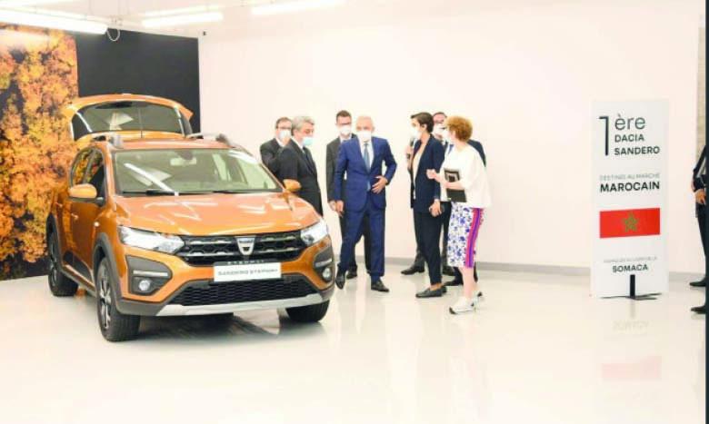 Renault Group Maroc a dévoilé la première Dacia Sandero destinée au marché  marocain et fabriquée à l'usine casablancaise Somaca. Ph. Saouri