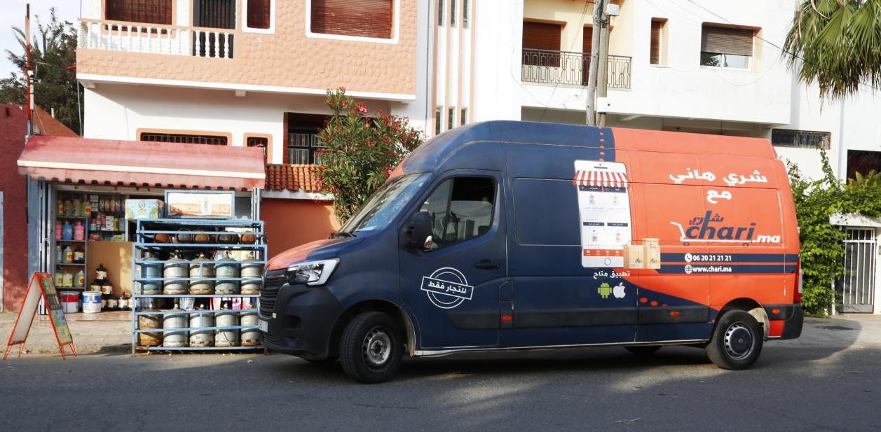 Chari permet aux commerces traditionnels de proximité de s'approvisionner de l'ensemble des produits revendus dans leur magasin avec la promesse de se les faire livrer en moins de 24h.