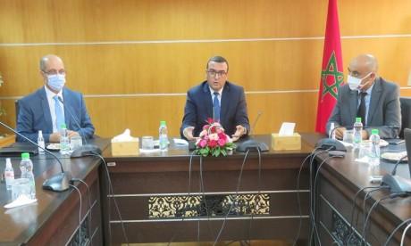 La cérémonie d'installation a été présidée par le ministre du Travail et de l'Insertion professionnelle, Mohamed Amekraz. Ph. DR