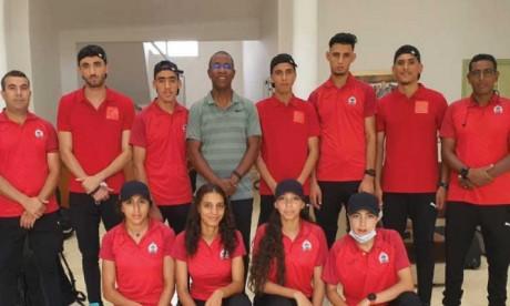 Les athlètes juniors marocains avant leur départ pour le Kenya.