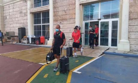 Le départ de la délégation marocaine depuis l'hôtel a eu lieu aux alentours de 20 heures.Ph. DR
