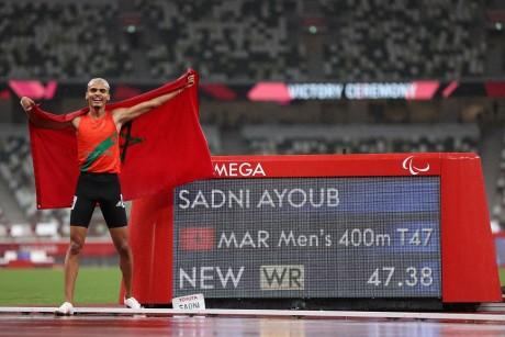 Jeux paralymiques (400m/T47) : Ayoub Sadni décroche la médaille d'or, la troisième du Maroc