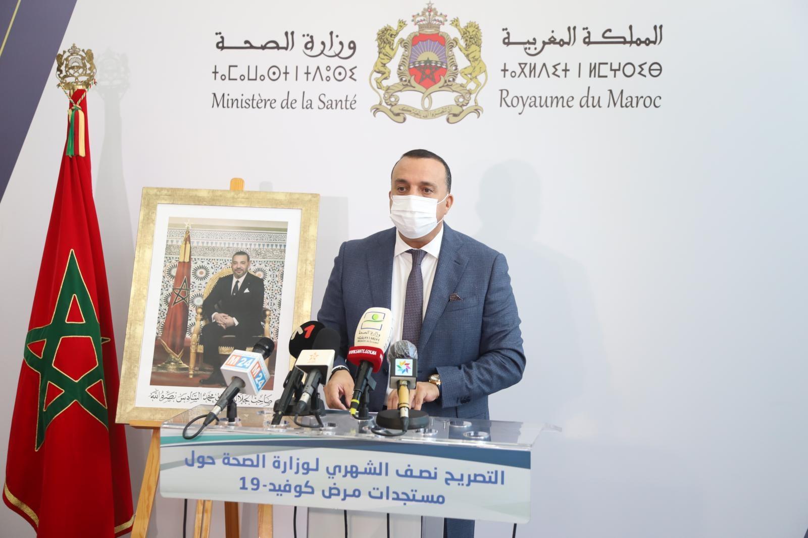 Meziane Bellefquih, lors de la présentation à Rabat du bilan bimensuel de la situation épidémiologique au Maroc, le mardi 14 septembre.