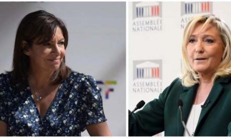 Marine Le Pen et la maire de Paris Anne Hidalgo lancées dans la bataille pour la présidentielle