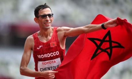 Amine Chentouf, médaillé d'or et recordman du Marathon T12 à Tokyo.