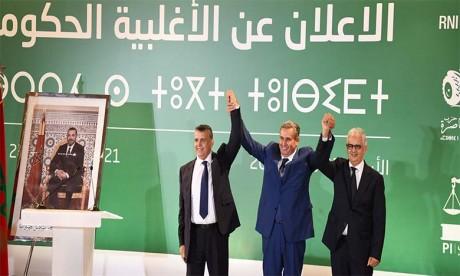 Le futur gouvernement RNI-PAM-PI table sur la cohésion  et la solidarité de ses composantes pour répondre aux attentes des Marocains