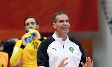 Hicham Dguig, entraîneur de l'équipe nationale de futsal.