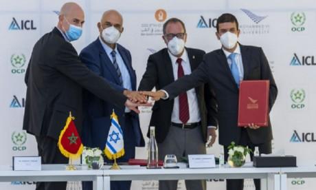 Durabilité : OCP et Israel Chemicals apportent 600.000 dollars pour soutenir la recherche à l'UM6P et la BGU