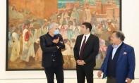 Le ministre de la Jeunesse, de la Culture et de la Communication Mohamed Mehdi Bensaid visite le Musée Mohammed VI, le 25 octobre 2021. Ph. MAP