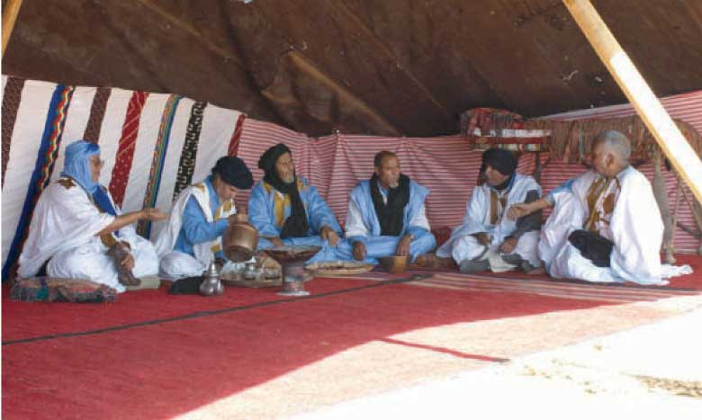 Une précédente édition du Festival de la poésie bédouine hassanie.