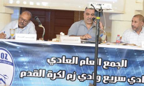 Les travaux de l'AGO du Rapide Oued Zem.