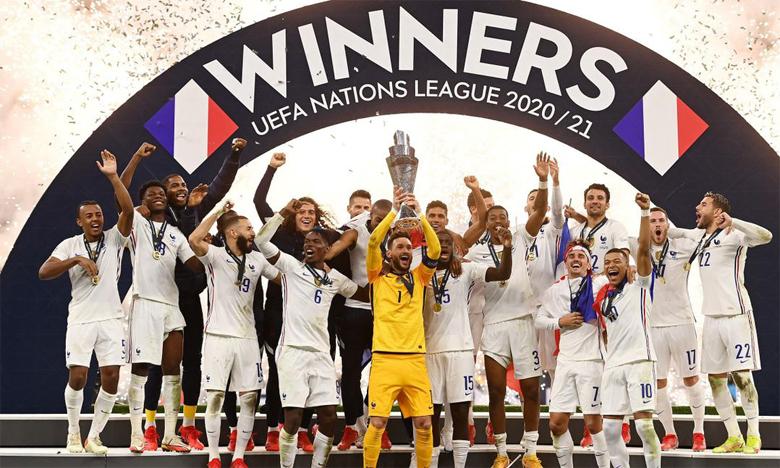 Après la Coupe du monde et l'Euro, l'équipe de France a ajouté le trophée de la Ligue des nations à son palmarès.