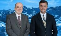 Le président-fondateur du Forum Crans Montana, Jean-Paul Carteron, et le président de i-conférence, Hassan Alaoui.