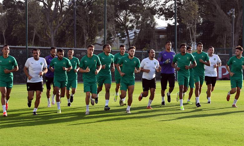 Avant-dernière séance d'entraînement des Lions de l'Atlas au complexe sportif Mohammed VI.