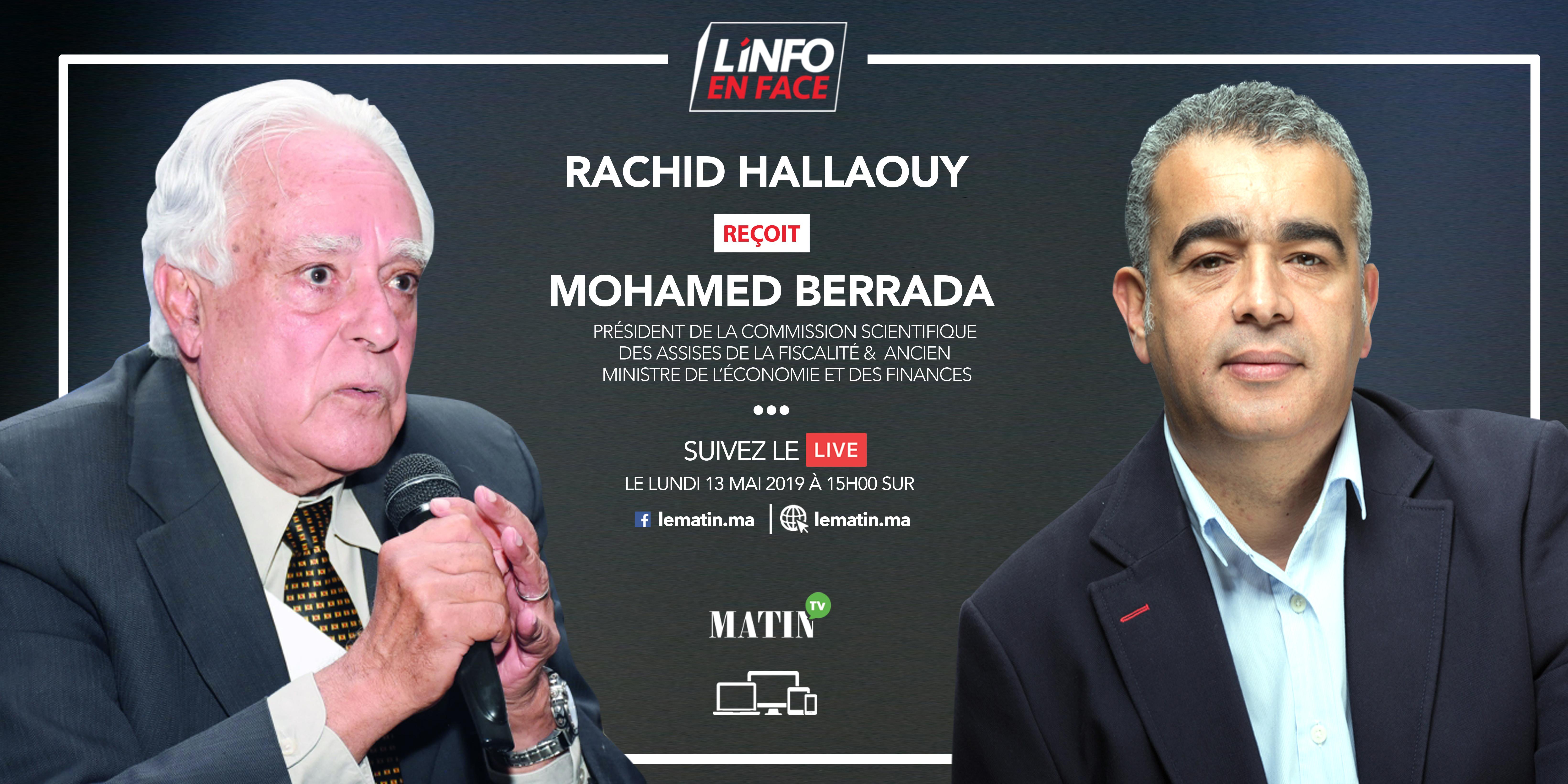 Live : Mohamed Berrada, invité de L'Info en Face Grand Format
