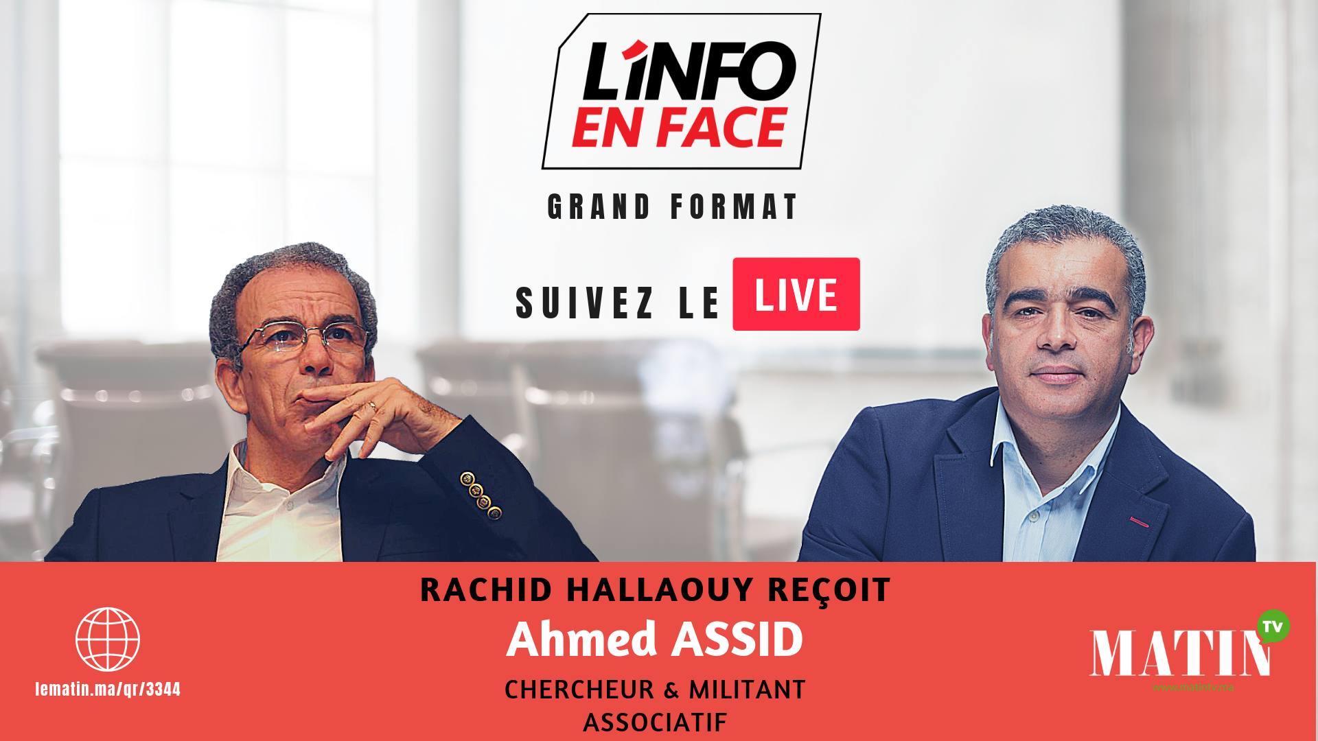 Live : Ahmed Assid dans l'Info en Face