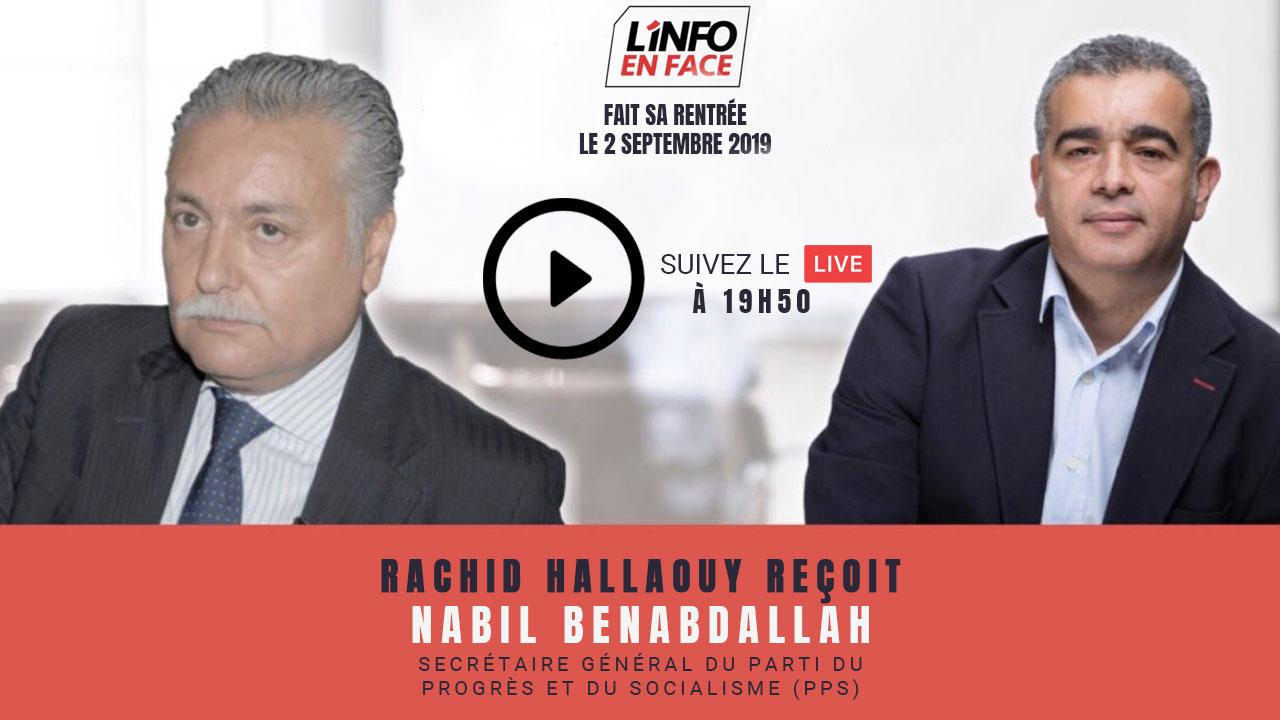 Live : Nabil Benabdallah fait sa rentrée sur L'Info en Face