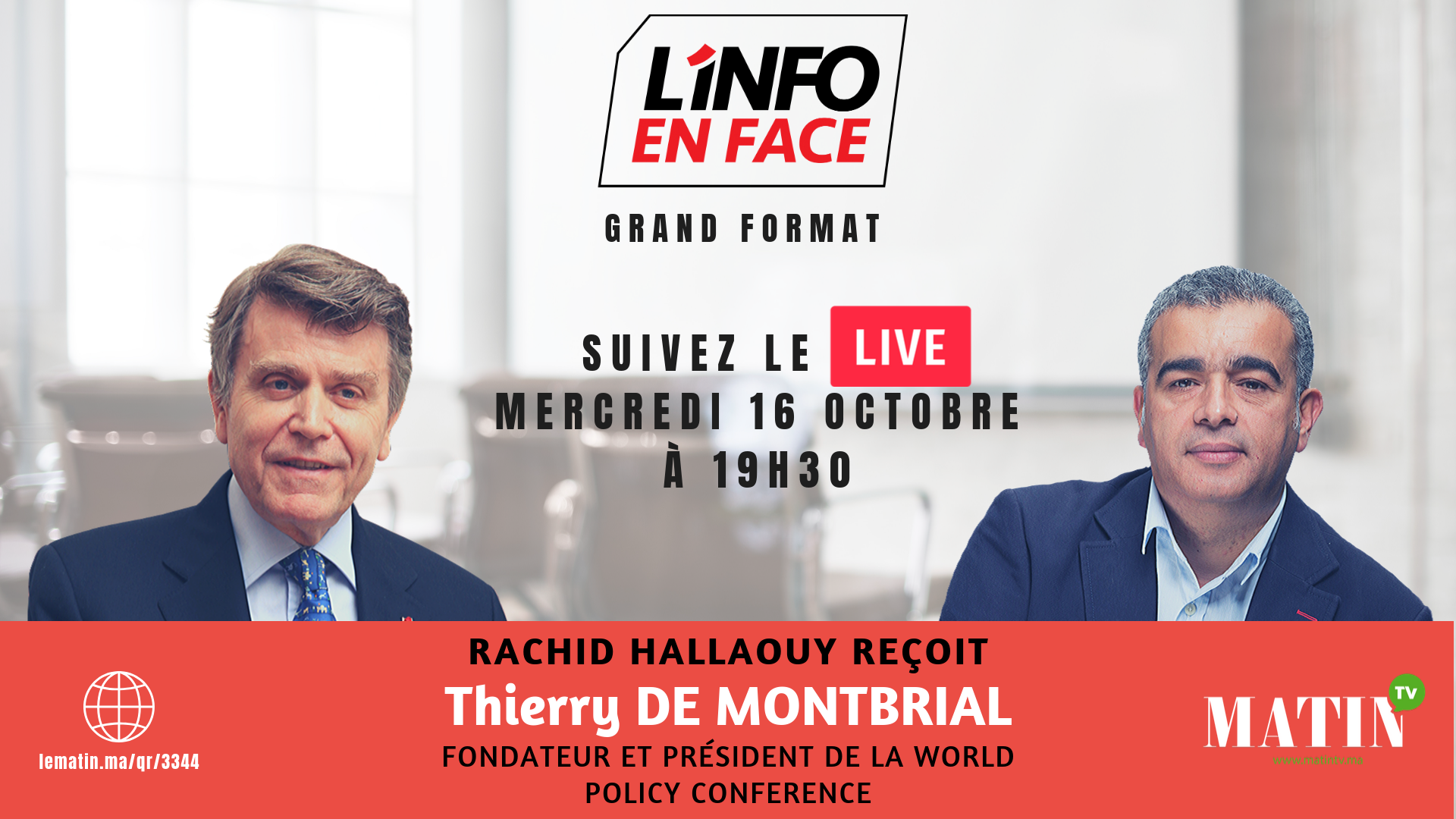 Live : L'Info en Face avec Thierry de Montbrial
