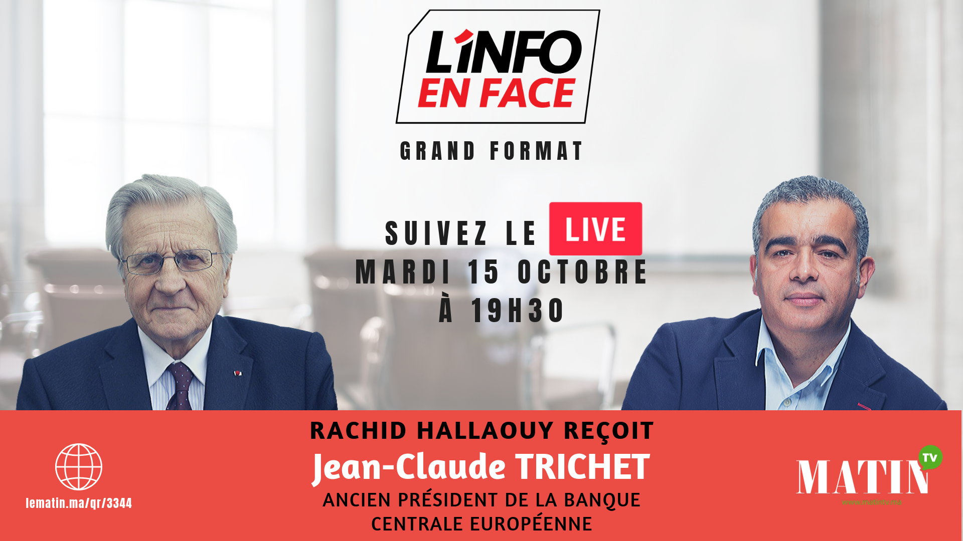 Live : L'Info en Face avec Jean-Claude Trichet