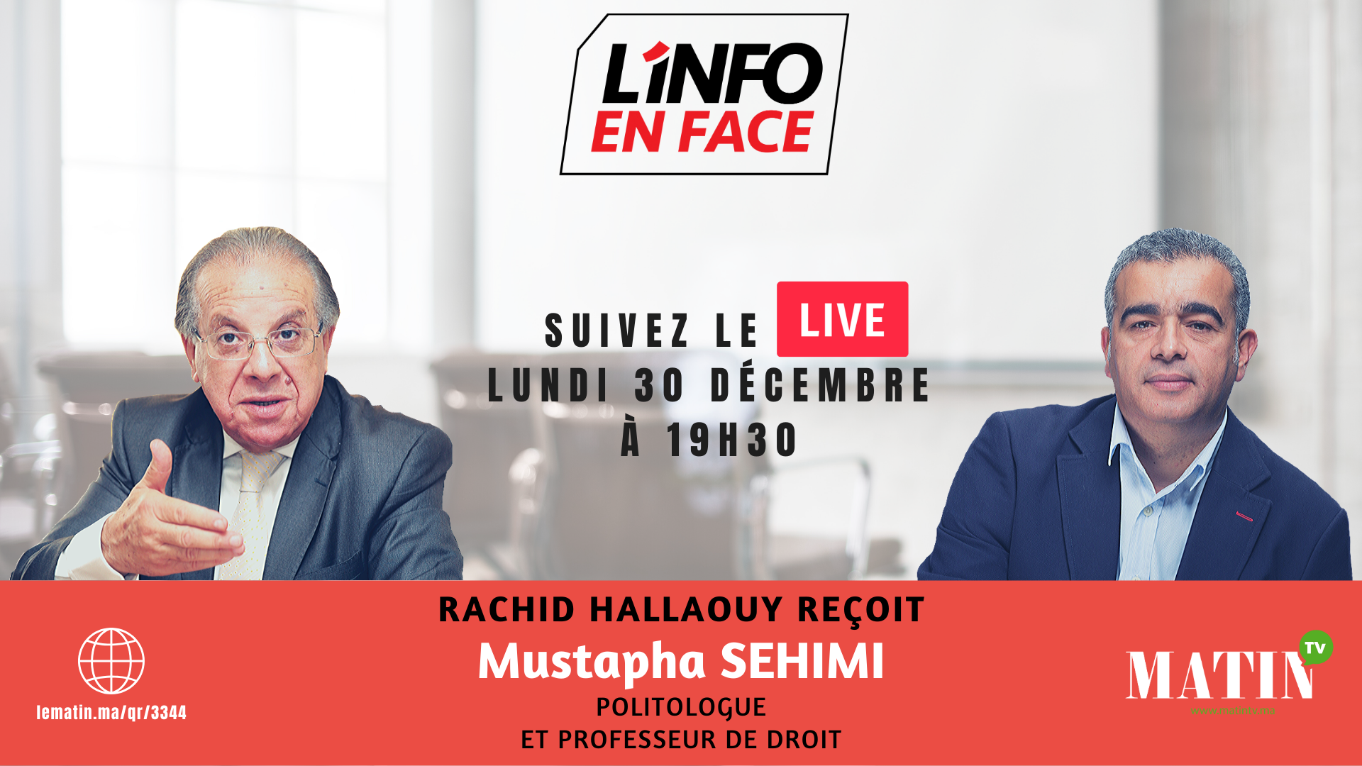 Live : L'Info en Face Rétrospective avec Mustapha Sehimi