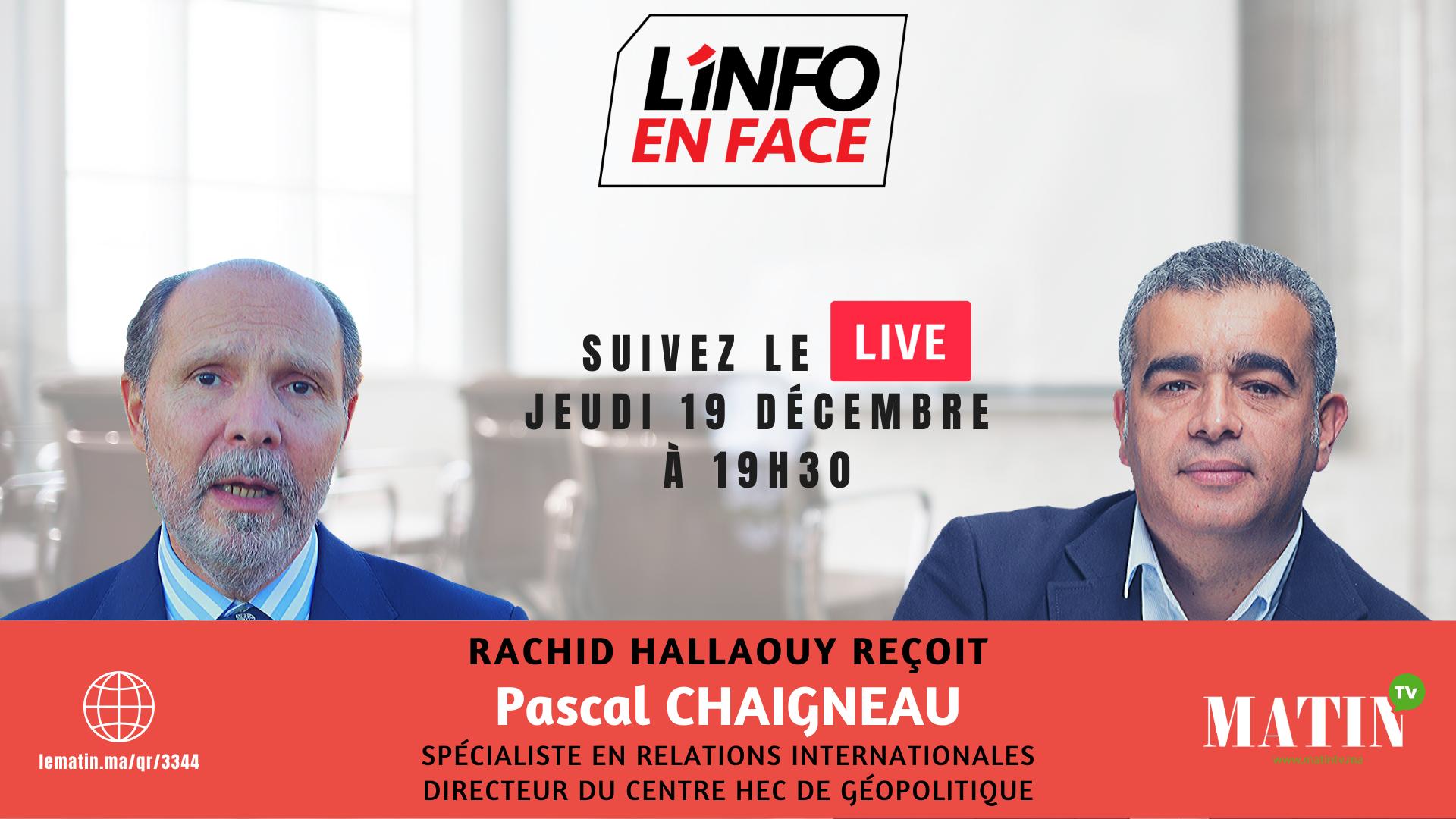 Live : L'info en Face avec Pascal Chaigneau