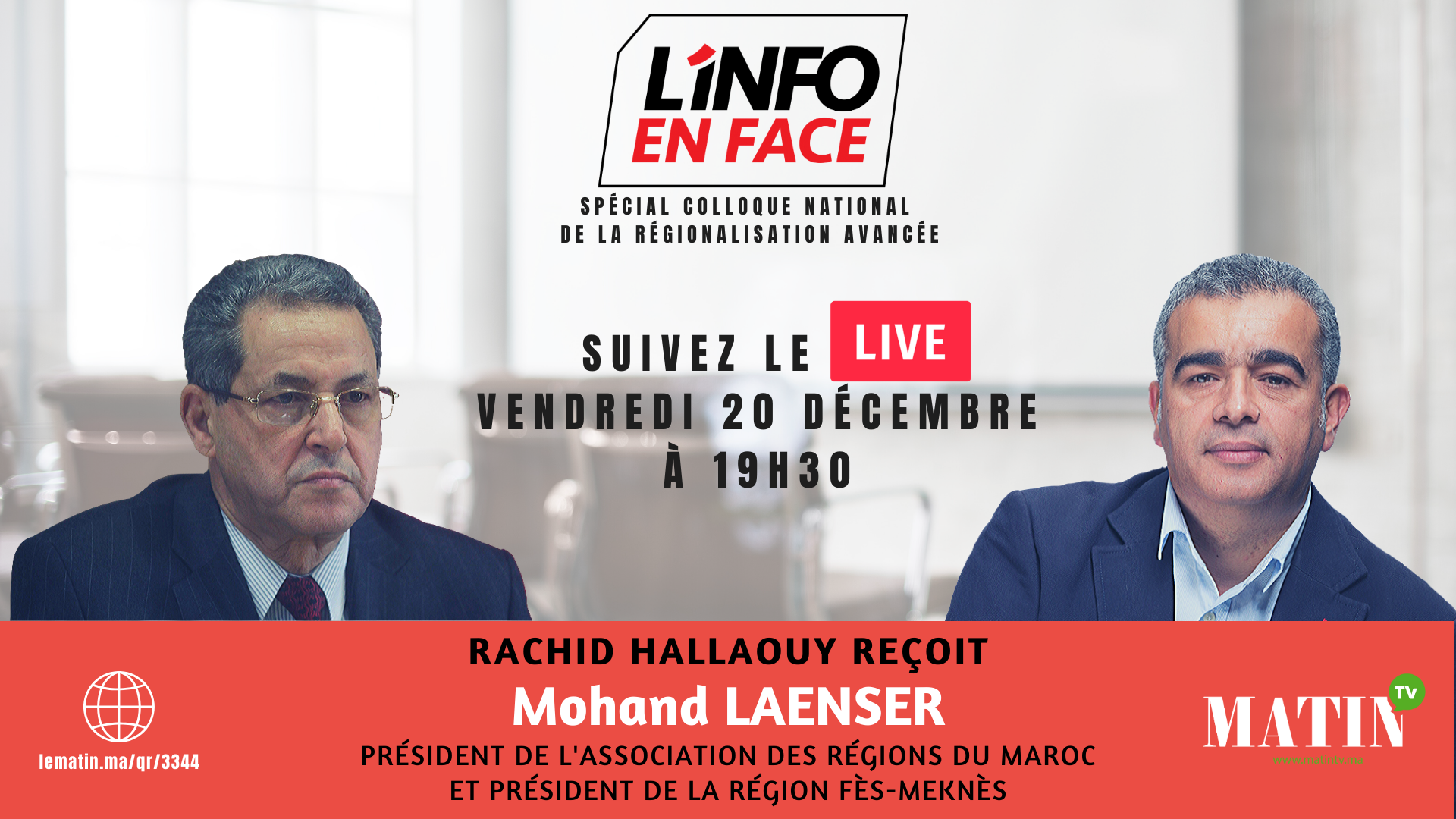 Live : L'Info en Face spécial CNRA avec Mhand Laenser