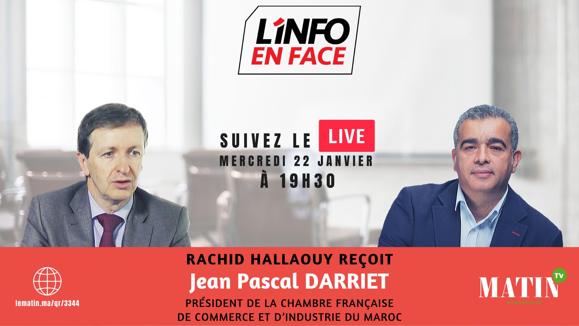 Live : L'Info en Face avec Jean Pascal Darriet
