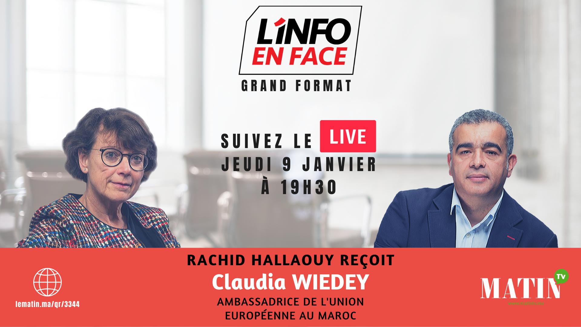 Live : Claudia Wiedey, Ambassadrice de l'Union européenne au Maroc