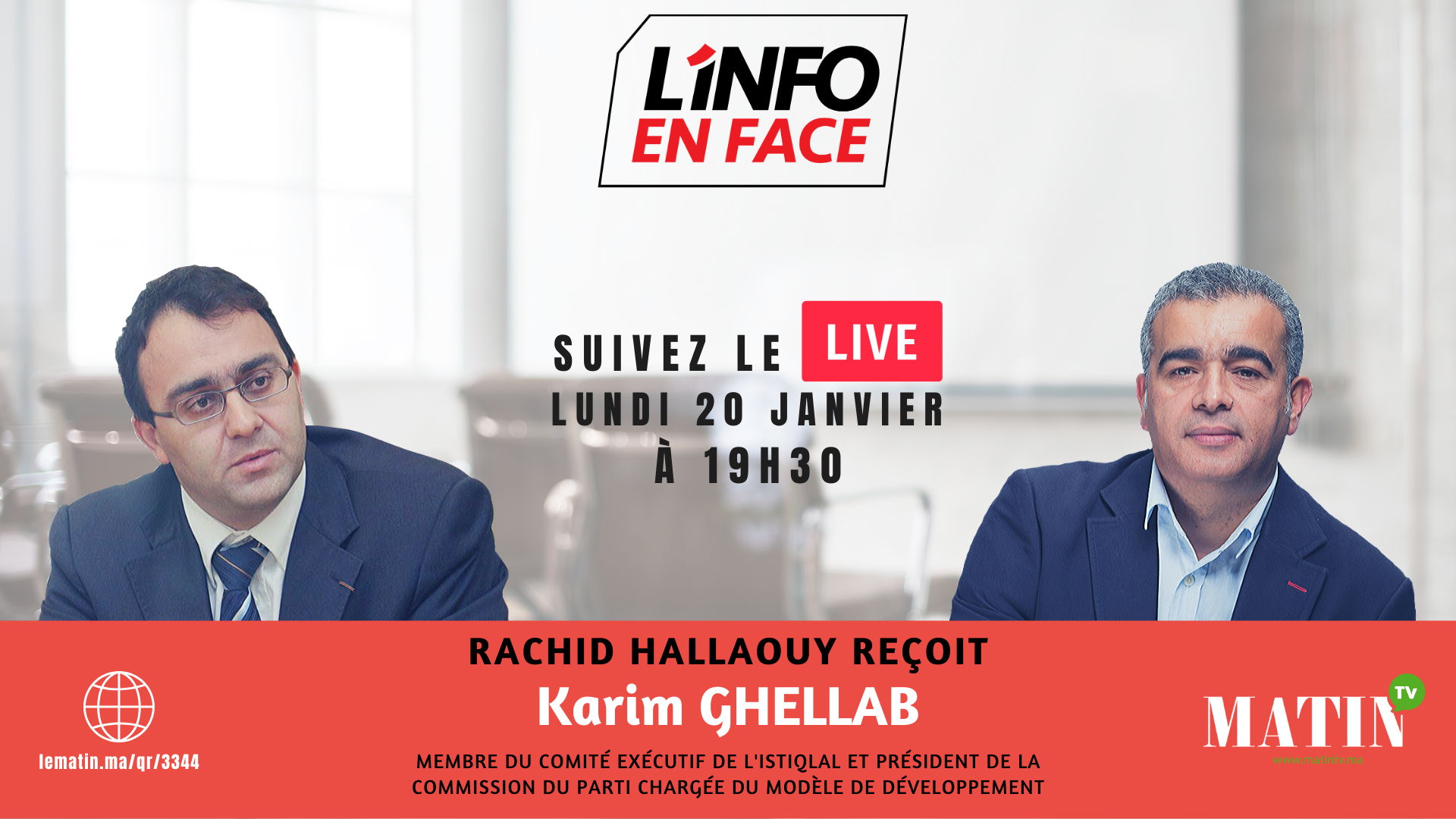 Live : L'Info en Face avec Karim Ghellab