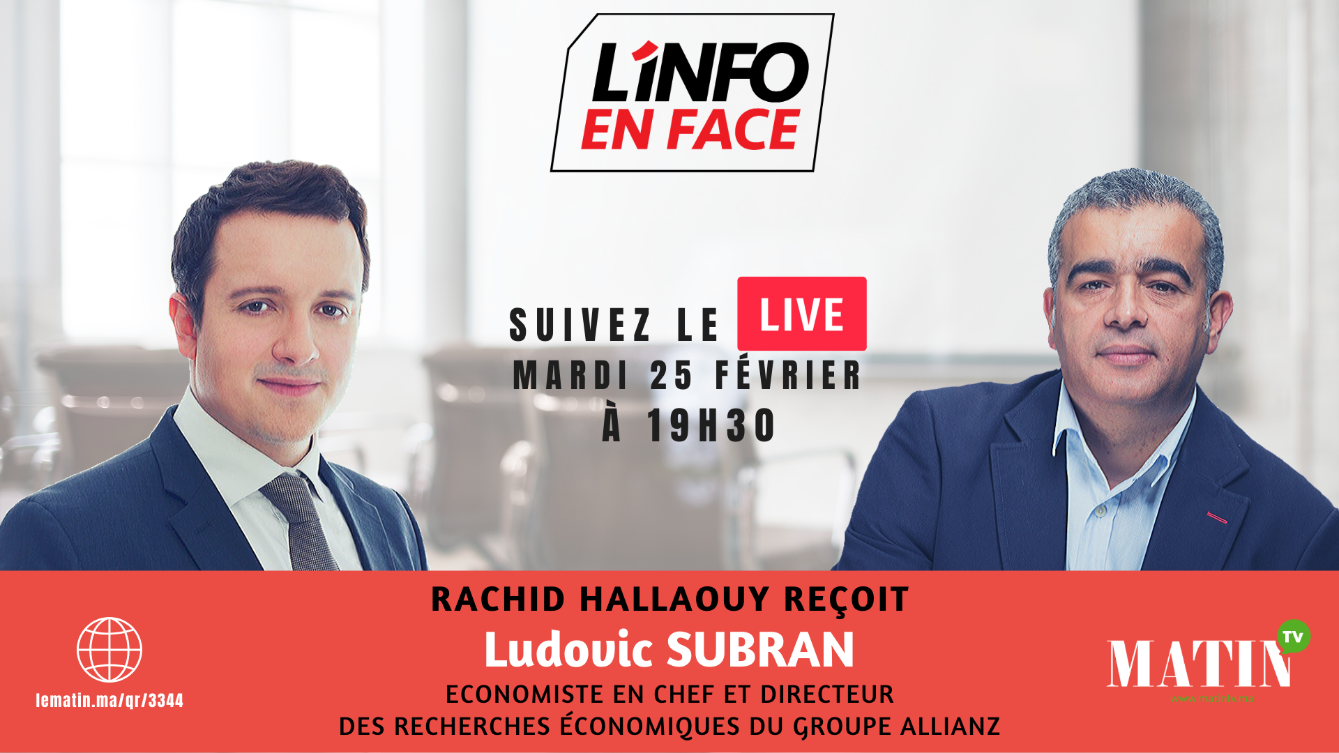 Live : L'Info en Face avec Ludovic Subran