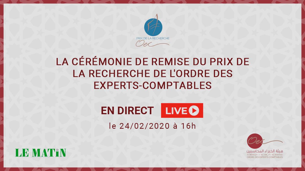 Live : L'Ordre des experts-comptables récompense l'excellence