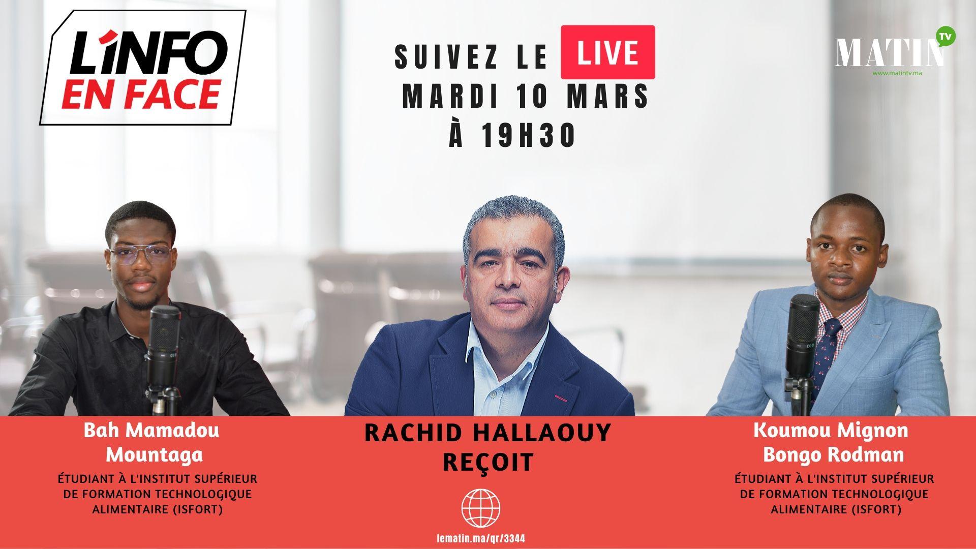 Live : L'Info en Face 100% jeunes avec K. Mignon Bongo Rodman et Bah Mamadou Mountaga