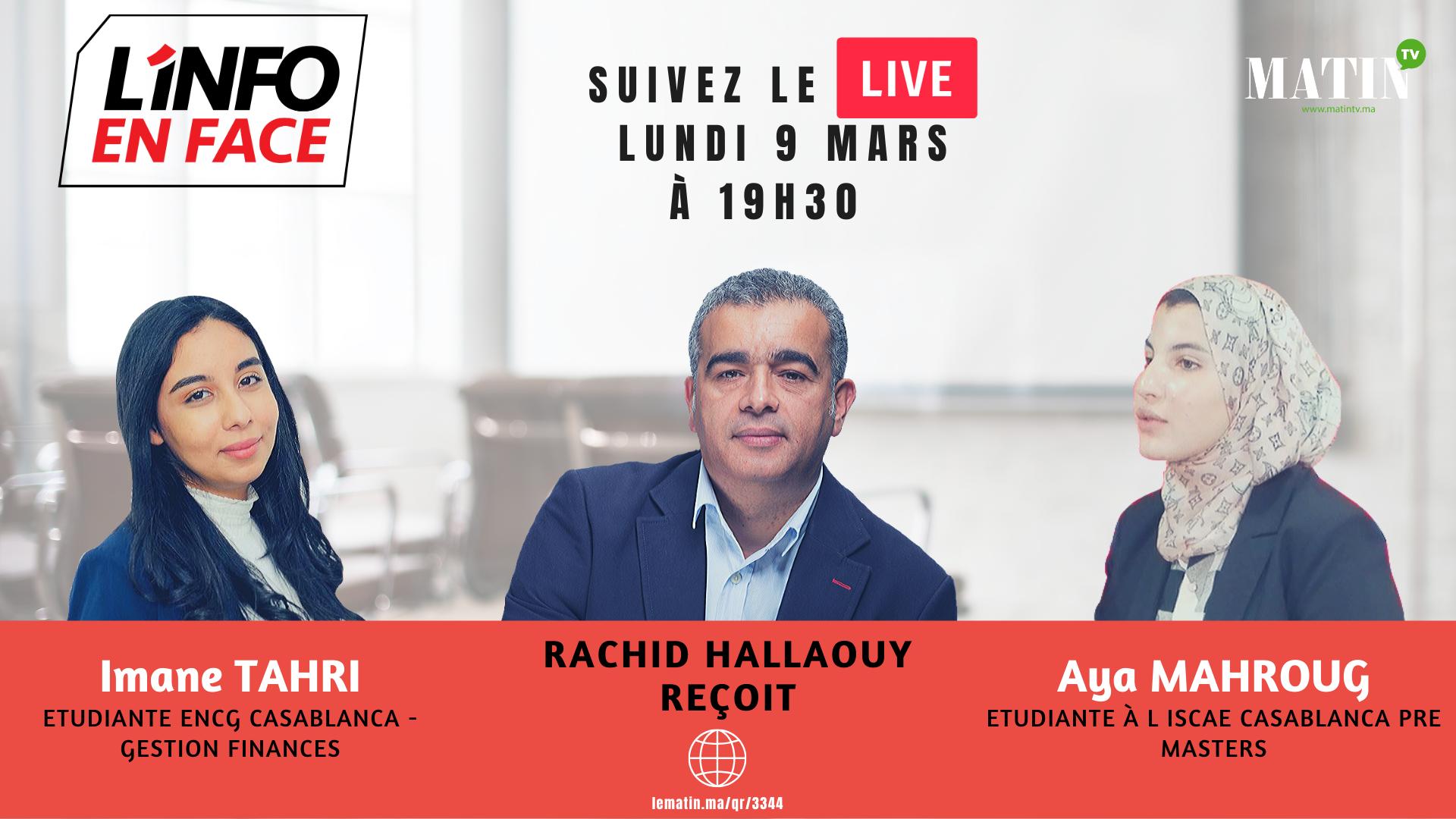 Live : L'Info en Face 100% jeunes avec Imane Tahri et Aya Mahroug