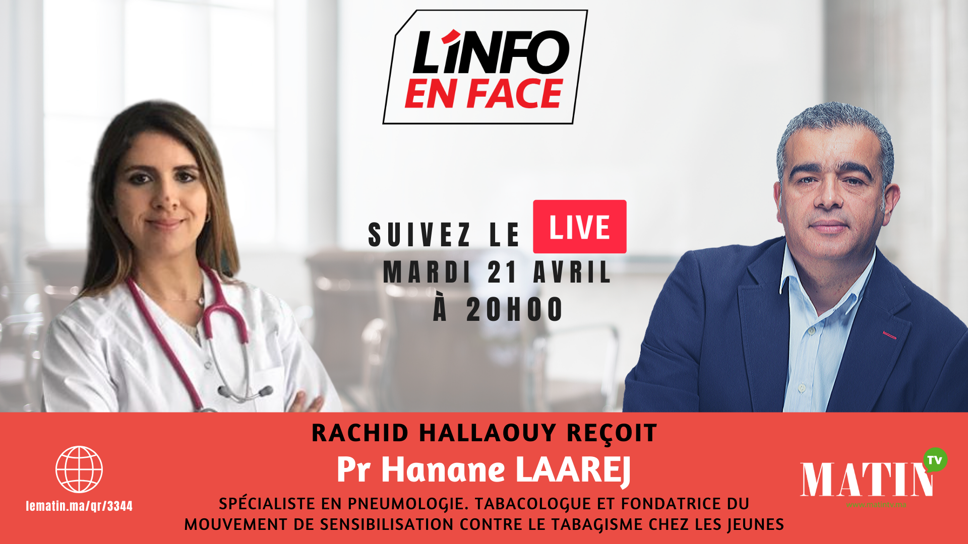Live : L'Info en Face avec Laarej Hanane