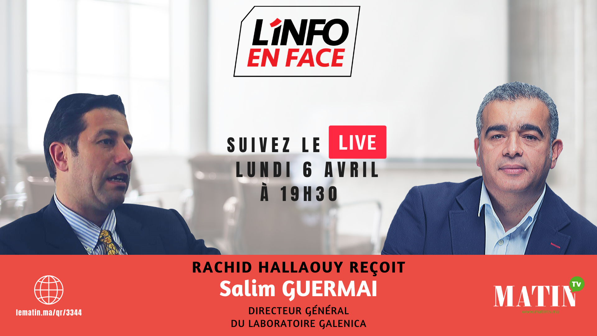 Live : L'Info en Face avec Salim Guermai