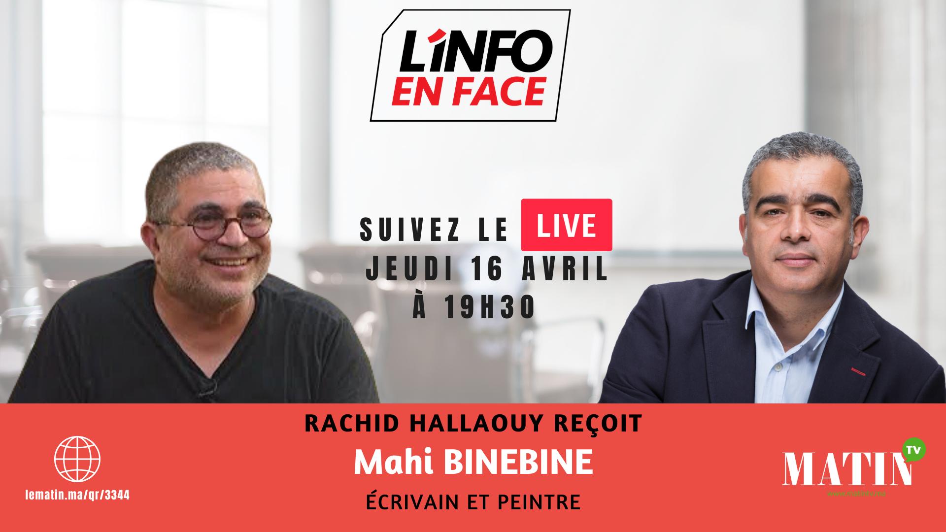 Live : Webinar : L'Info en Face avec Mahi Binebine