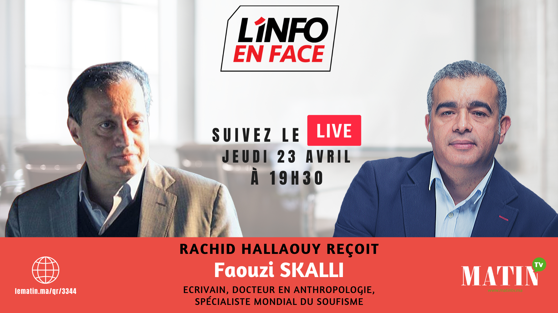 Live : L'Info en Face avec Faouzi Skalli