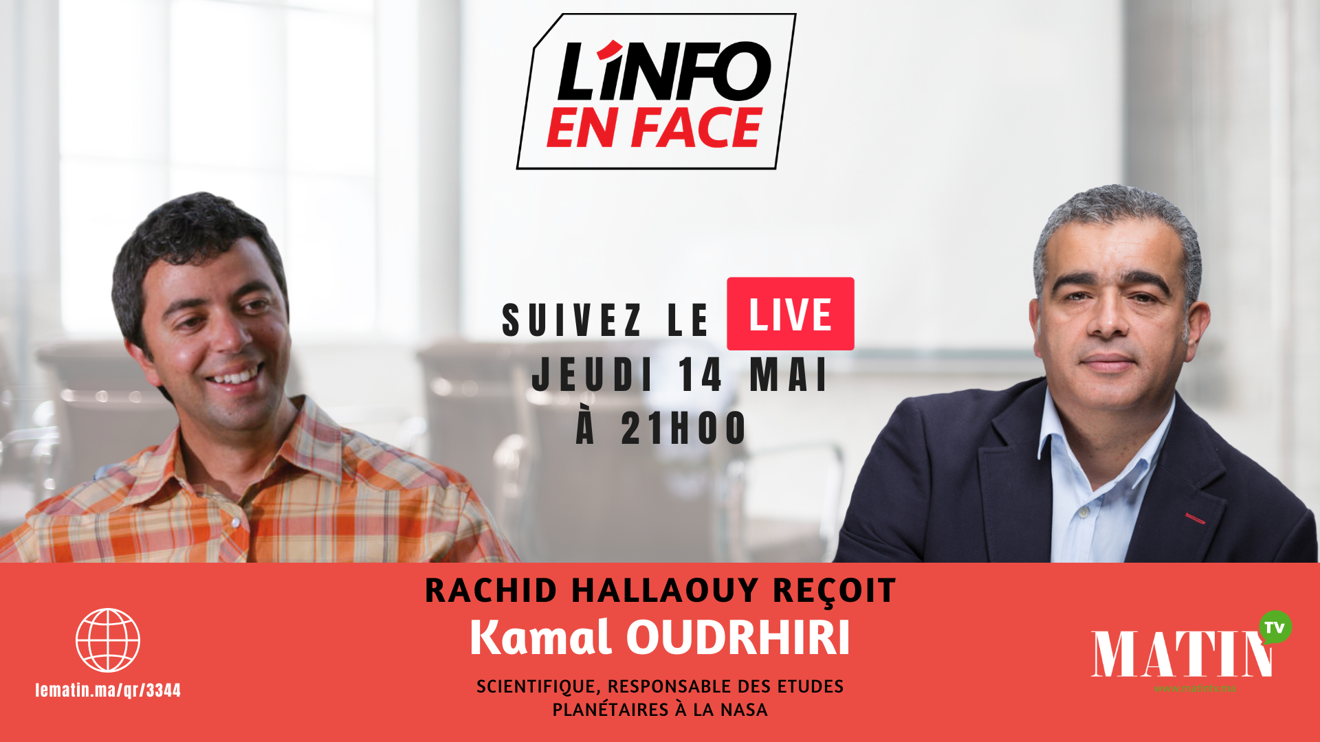 Live : L'Info en Face avec Kamal Oudrhiri
