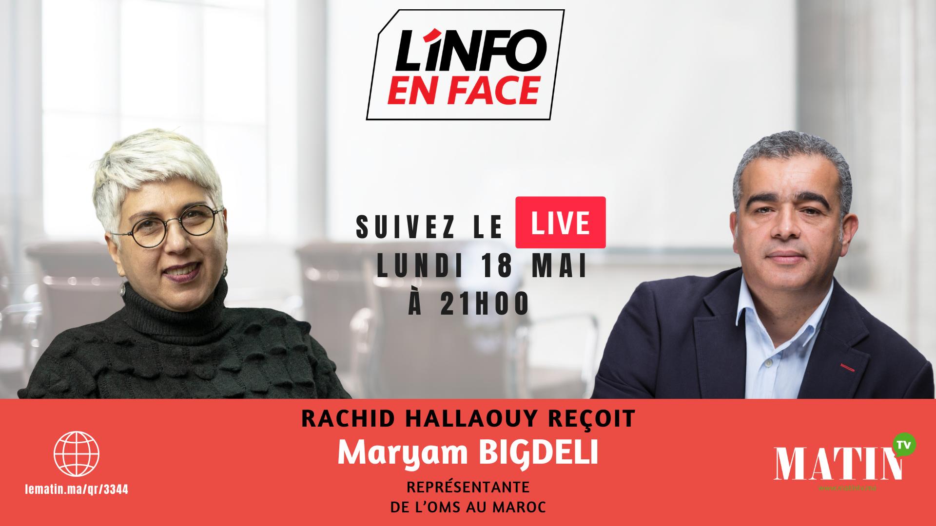 Live : L'Info en Face avec Maryam Bigdeli