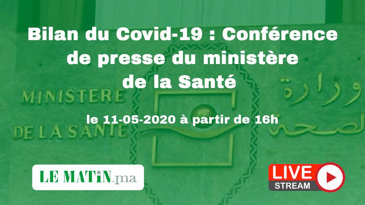 Live : Bilan du #Covid-19 : Point de presse du ministère de la Santé (11-05-2020)