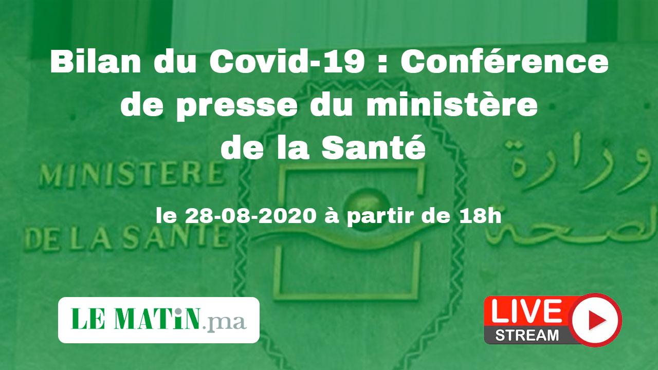 Live : Bilan du #Covid-19 : Point de presse du ministère de la Santé (28-08-2020)