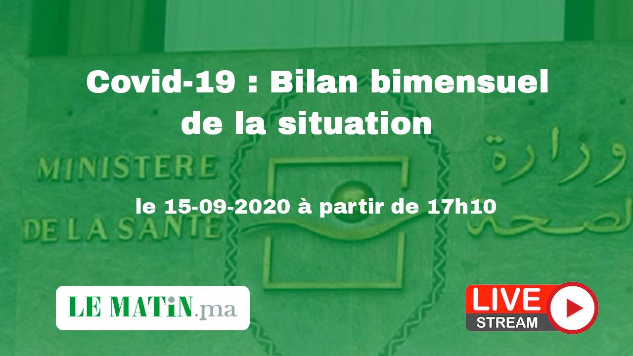 Live : Covid-19 : Bilan bimensuel de la situation