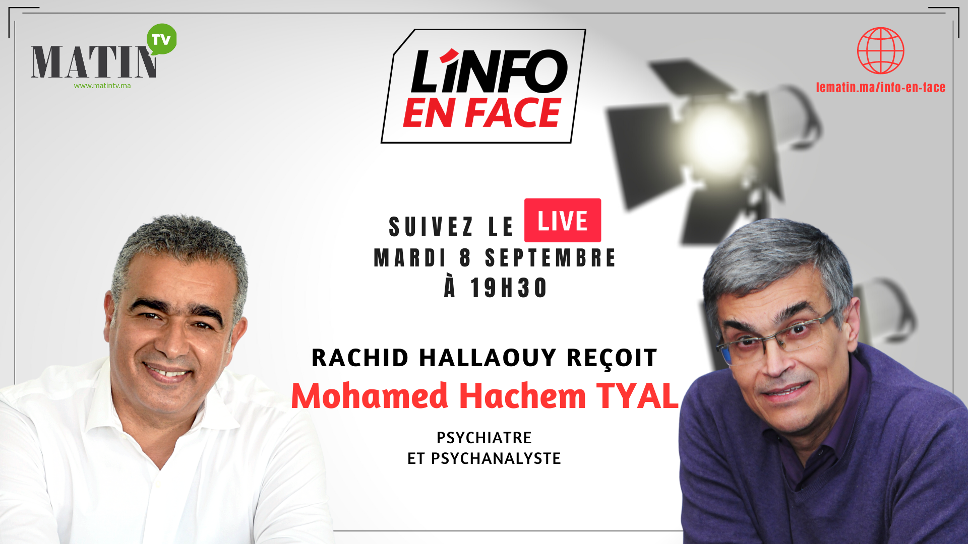 Live : Hachem Tyal dans L'Info en Face : La distorsion de l'information angoisse… la cohérence apaise