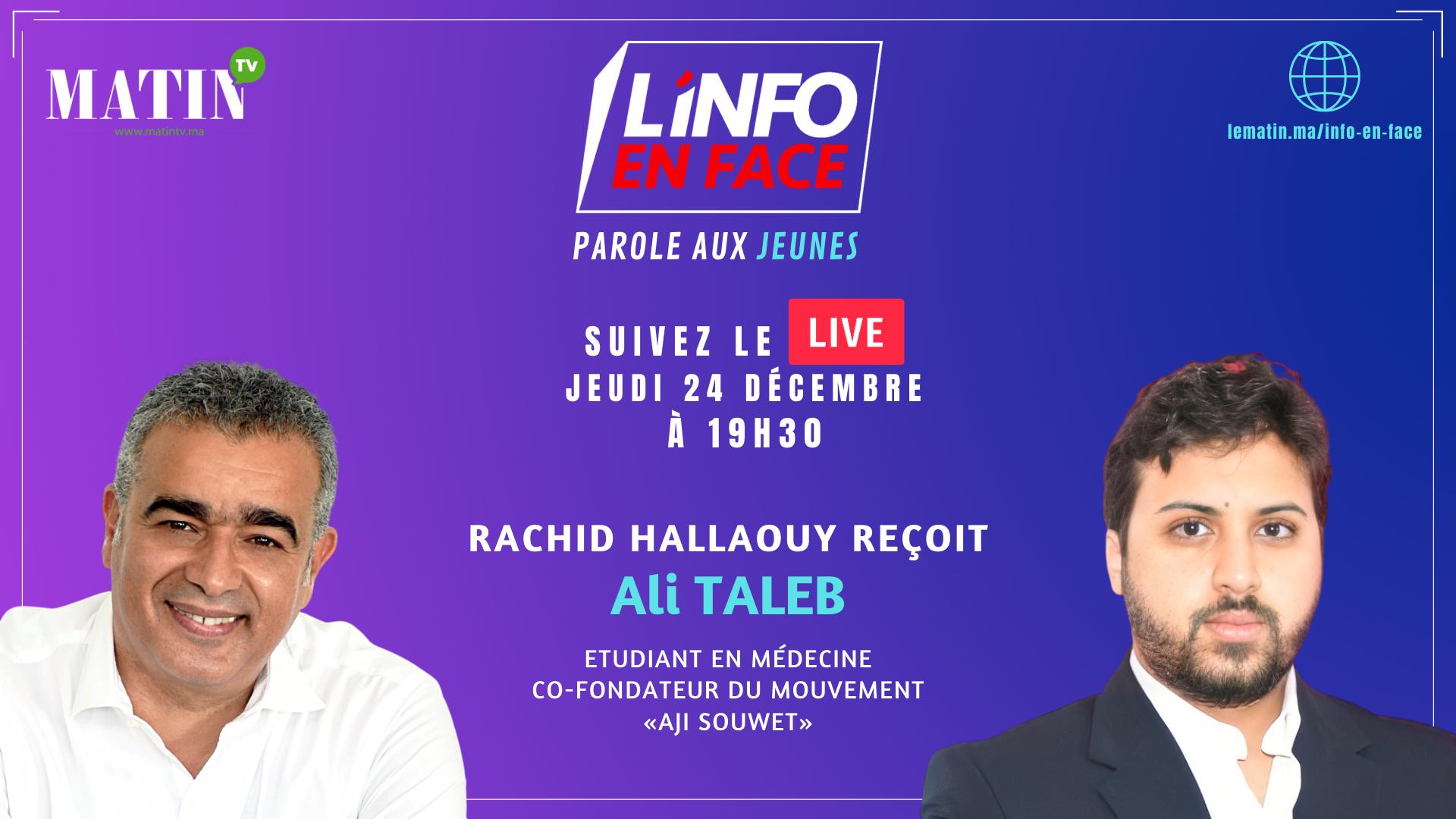Live : L'Info en Face : La parole aux jeunes
