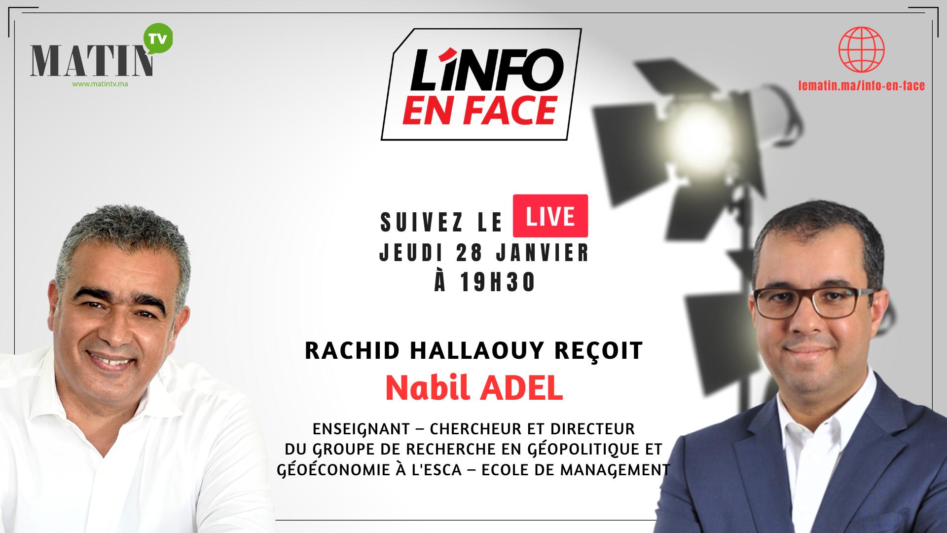 Live : L'Info en Face éco avec Nabil Adel