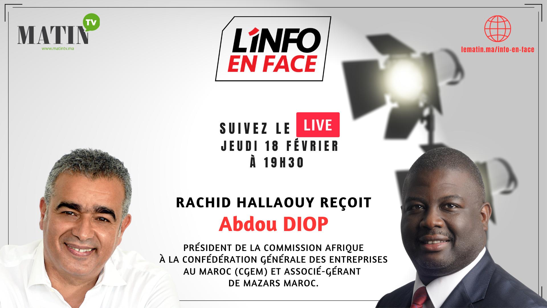 Live :  L'Info en Face avec Abdou Diop