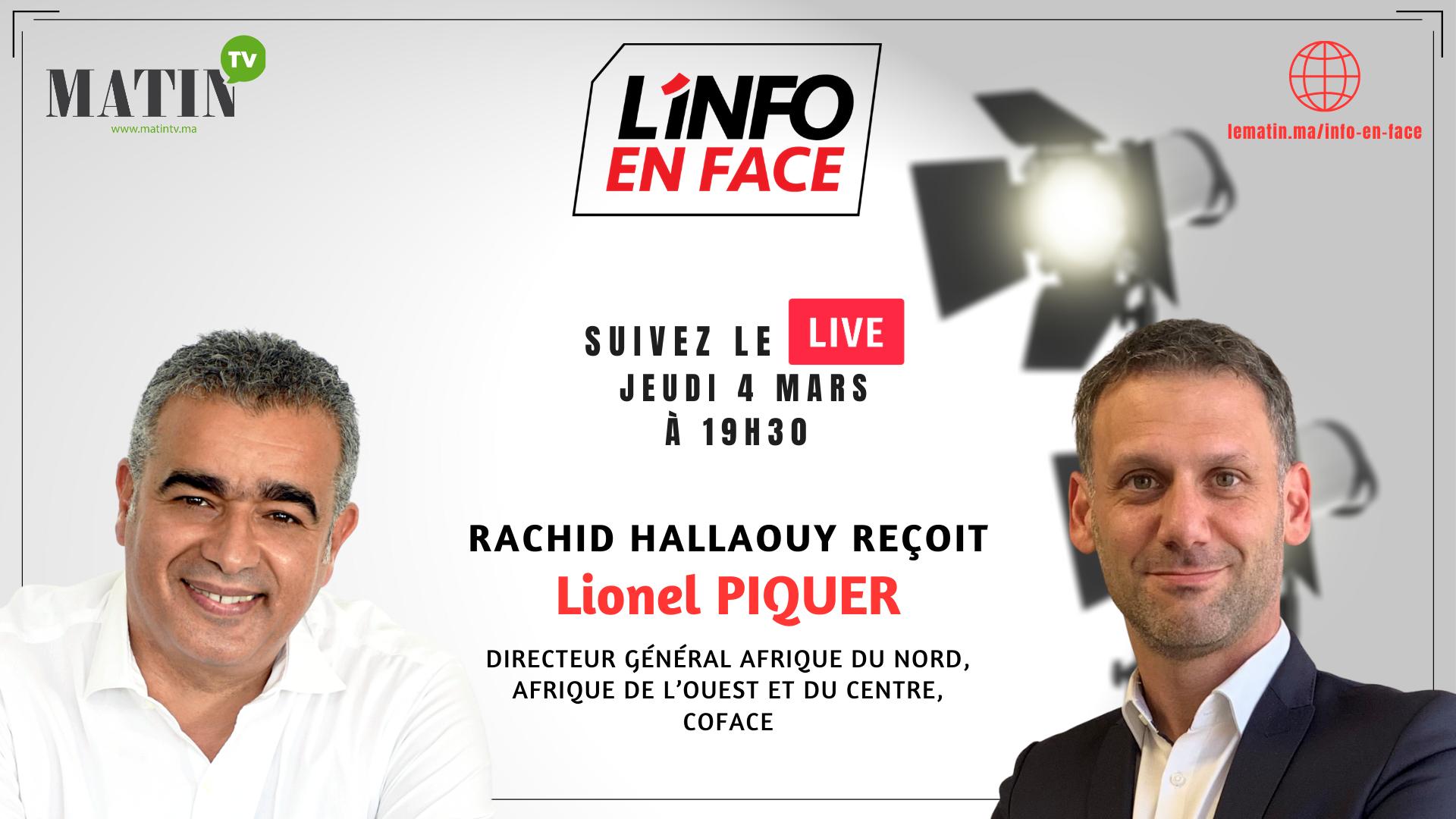 Live : L'Info en Face avec Lionel Piquer